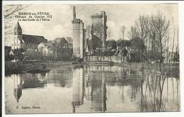 MEHUN SUR YEVRE , Château De Charles VII Vu Des Bords De L' Yèvre , CPA ANIMEE - Mehun-sur-Yèvre