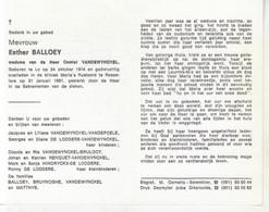 Esther Balloey (1904-1981) - Devotion Images