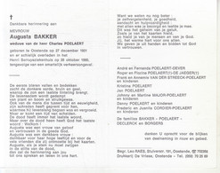 Augusta Bakker (1901-1990) - Devotion Images