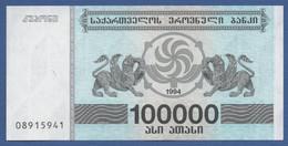 GEORGIA - P.48Ab – 100.000 Kuponi 1994  UNC - Georgia