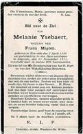 ERTVELDE / KLUIZEN - Melanie YSEBAERT - Wwe Frans MIGOM - °1848 En +1922 - Devotion Images