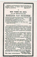 St. LIEVENS-ESSEN / ZAFFELARE / WONDELGEM - Z.E.H. Martinus VAN PETEGEM, Pastoor - °1809 En +1881 - Devotion Images