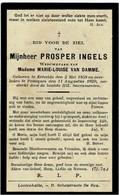 ERTVELDE / POEKE - Prosper INGELS - Wedn. M.L. Van Damme - °1858 En +1929 - Devotion Images