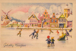 Holländische Grußkarte - New Year