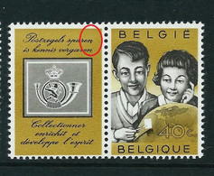 N° 1152 - V2 - Point Après Sparen -      (état: ** ) - Plaatfouten (Catalogus OCB)
