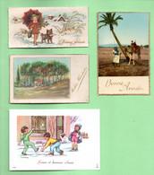 4 PETITES CARTES DE VOEUX - Réf. N°30610 - - New Year