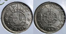 PORTUGUESE GUINEA-BISSAU 2$50 ESCUDOS 1952 Km#9 UNC (G#17-57) - Guinea-Bissau