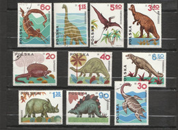 Pologne - 10 Timbres Animaux Prehistoriques - Colecciones