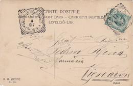 1907 Veneto, Cartolina Con TRQ Di Padova E In Arrivo Il Raro Tondo-riquadrato Di Saletto Di Vigodarzere - Storia Postale