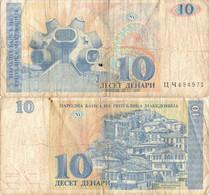 Macedonia / 10 Denars / 1993 / P-9(a) / VF - Macedonia