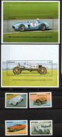 Ghana 1816 - 1819, Block 220+221 Mnh ** Auto Car Voiture Ford Benz V.Brauchitsch Caracciola Sterling Moss Mustang - Ghana (1957-...)