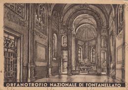 CARTOLINA  FONTANELLATO,PARMA,EMILIA ROMAGNA,ORFANOTROFIO NAZIONALE,NOSTRA SIGNORA DEL SANTO ROSARIO,VIAGGIATA 1950 - Parma