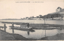 21-6223 : LES BORDS DE LA LOIRE. SAINT-JUST-SUR-LOIRE. BARQUE - Saint Just Saint Rambert