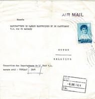 Enveloppe Expédiée De Téhéran Vers Eupen Le 6 Janvier 1964 - Iran