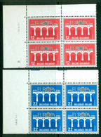 BELGIUM 1984 Mi 2182-83 Blocks Of Four** Europa CEPT – 25th Anniversary [A6462] - 1984