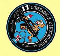 AUTOCOLLANT STICKER - 11e COMPAGNIE D'INSTRUCTION - 35e REGIMENT D'INFANTERIE - 1604 - ARMÉE - MILITARIA - Stickers