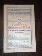 Brugge Bruges / Souvenir 1ère Communion Et Confirmation De Gertrude Van Caloen 1902 - Images Religieuses