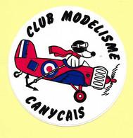 AUTOCOLLANT  STICKER - CLUB MODÉLISME CANYCAIS - MODÈLE RÉDUIT - CANY - Stickers