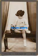 158410 REAL PHOTO GIRL WITH DOLL TOY NO POSTAL POSTCARD - Fotografia