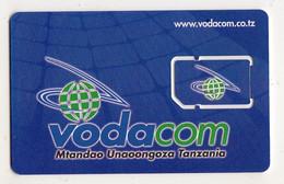 TANZANIE CARTE GSM VODACOM Verso Numeroté - Tanzania