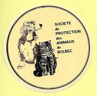 AUTOCOLLANT STICKER - SOCIÉTÉ DE PROTECTION DES ANIMAUX DE BOLBEC - CHIEN -CHAT - Stickers