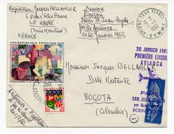 Enveloppe - 1ère Liaison Aviancia - Paris Par Boeing 720 B  Du 20/01/1962 - Air Post