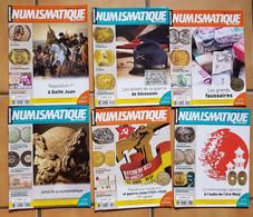 9 Magazines , Magazine - Numismatique  , Monnaie - ( Revues , Revue ) - French