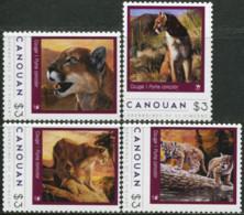 GRENADINES OF SAINT VINCENT CANOUAN 2012 Wildlife Puma Animals Fauna MNH - Big Cats (cats Of Prey)
