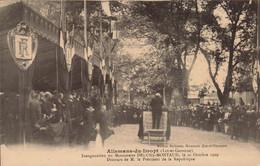 ALLEMANS-du-DROPT.  Cpa  - Inauguration Du Monument Deluns-Montaud.1909...   (scans Recto-verso) - Autres Communes