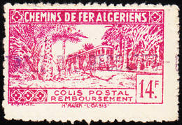 Algeria MH Railway Parcel Post 14fr Train - Colis Postaux