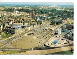 44 NANTES : VUE AERIENNE SUR LES QUARTIERS DU CENTRE /CPSM GF Chapeau écrite Datée 1964 Excellent état - Nantes