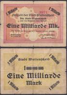 Westfalen - Wattenscheid Stadt Bochum 1- Milliarde Mark 1923   (16031 - Unclassified
