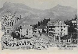 74 - Saint-Gervais-les-Bains - CPA 1900 - Hôtel Du Mont-Blanc Chambel - Numa Allantaz N° 2 - Dos Vierge Scanné - Saint-Gervais-les-Bains