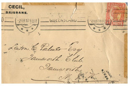 (OO 4) Australia - Queensland Stamp - Letter Posted To NSW 1913 - Gebraucht