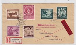 Deutsches Reich R+Express-Orts-Brief Mit Bunter Frankatur Und AKs - Covers & Documents