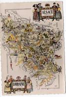 Carte Géographique Alsace-Lorraine - 1955   (T192) - Carte Geografiche