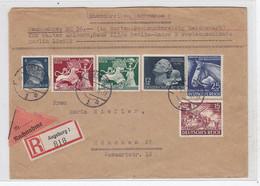 Deutsches Reich R+NN Brief Mit U.a.Satz+Blaues Band Frankatur - Covers & Documents