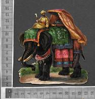 CHROMOS DECOUPIS GAUFRE / SULTAN INDIEN A DOS D'ELEPHANT EN TENUE DE PARADE - Andere