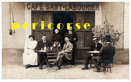 63  Eglisolles ? Café Sabi Labourier  ( Carte Photo) - Altri Comuni