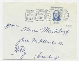 N° 1085  SEUL LETTRE STRASBOURG GARE 18.12.1956   POUR LUXEMBOURG AU TARIF SPECIAL RARE - 1921-1960: Periodo Moderno