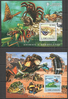 BC1373 2007 SAO TOME & PRINCIPE ANIMALS & BUTTERFLIES FAUNA SCOUTING 2BL MNH - Mariposas