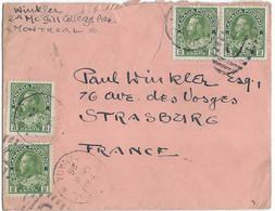1926 / Lettre Avec 4 Timbres Two Cents / Exp De Montreal Canada - Briefe U. Dokumente