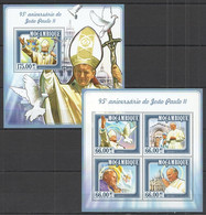 ST2346 2015 MOZAMBIQUE MOCAMBIQUE FAMOUS PEOPLE 95TH ANNIVERSARY POPE JEAN PAUL II KB+BL MNH - Popes