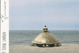 F51 Cpa / CARTE Painter Painting CPM Advertising Card Cart' Com CART Festival AVIGNON TORTUE ART PLAGE - Turtles