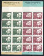 SCHWEDEN Mi.Nr. 626-627 Nobelpreisträger Des Jahres 1908- Markenheftchen - MNH - 1904-50