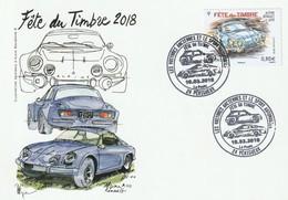 Périgueux-24 Dordogne (Fête Du Timbre 2018 : Alpine Renault), Carte Postale Illustrée Du 10-03-2018 - 2010-....