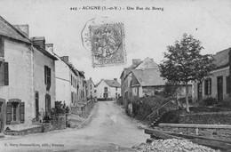 ACIGNE - Une Rue Du Bourg - Otros Municipios