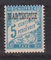 MARTINIQUE       N°  YVERT  :    TAXE 1   NEUF AVEC  CHARNIERES      ( CH  1/14 ) - Portomarken
