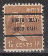 Locals USA Precancel Vorausentwertung Preo, Bureau California, North Hollywood 805-72 - Precancels