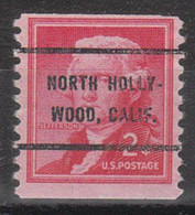 Locals USA Precancel Vorausentwertung Preo, Bureau California, North Hollywood 1055-62 - Precancels